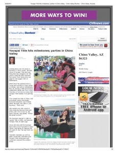 Yavapai Title hits milestones; parties in Chino Valley - Chino Valley Review - Chino Valley, Arizona